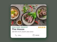 restaurant card design