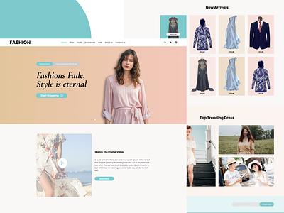 Fashion fashion dress online shopping webpage ecommerce