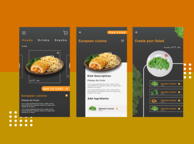App Design for Online Food Delivery adobexd design mobile ui figma mockup minimal dribble shot mockup design uiux mobile design application design mobile app design uidesign uxdesign