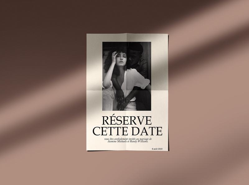 RESERVE CETTE DATE | FLYER DESIGN