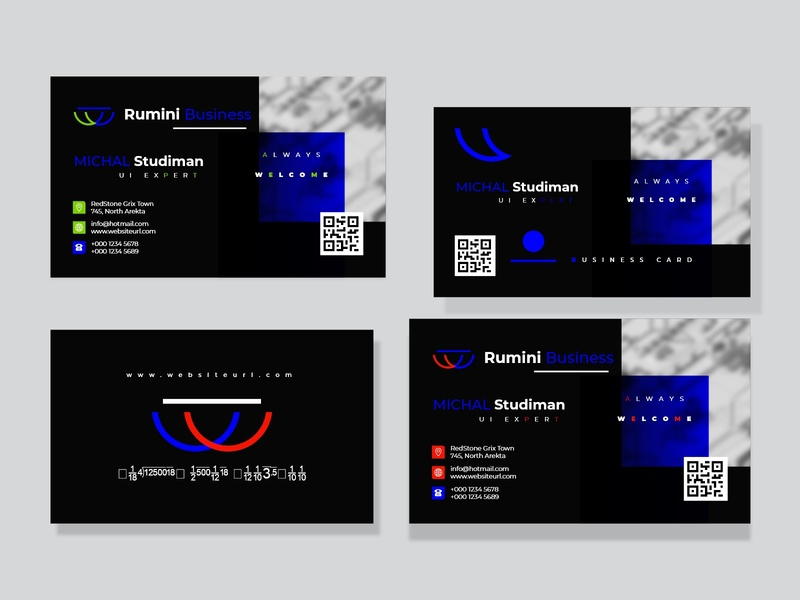 Business Card Design business banner white web standard simple professional official modern design modern logo green graphic flyer design creative business card blue black