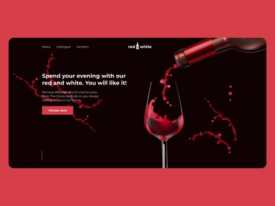 Wine Store wine glass wine label winery wine bottle wine website web ux ui minimal design