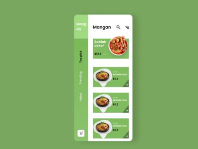 Indonesian food ui  ux ui ux uiux figmadesign designs uidesign app design app
