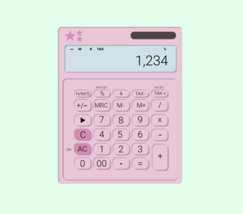 Elle Woods calculator pink daily004 dailyui