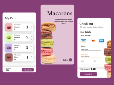 Macarons e-commerce! dailyui checkout page