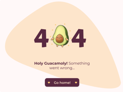 404 Page avocado 404 page dailyui