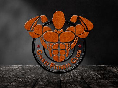 Ghazi Fitness Club vector illustration branding design fitness logo gym logo logodesigner logodesign social media post design graphicsdesign