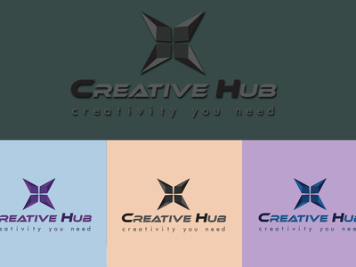 Creative Hub logo design social media post design typography illustration branding graphic design design logo logodesigner graphicsdesign logodesign
