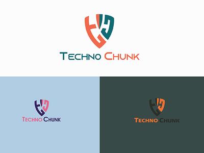Techno Chunk logo design social media design illustration design logo attractive logo minimalist logo logodesigner branding graphicsdesign logodesign