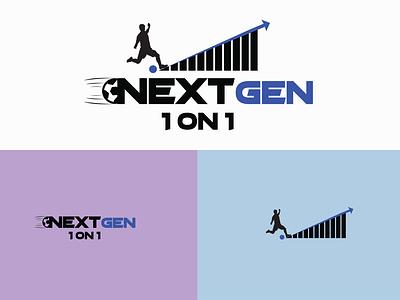 Next gen 1on1 Football club logo design typography minimalist logo design minimalist design attractive logo minimalist logo social media post design logo logodesign graphic design logodesigner branding graphicsdesign