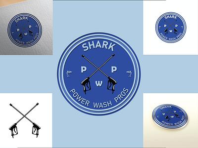 Shark Power Wash Pros postdesign modren logo minimalist logo design attractive logo illustration branding logodesigner logo logodesign graphicsdesign
