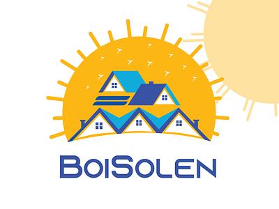 BOISOLEN, Real Estate logo illustration typography postdesign attractive logo social media design minimalistic modern logo minimalist logo logo graphic design logodesigner branding logodesign
