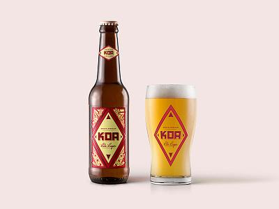 KOA Beer design illustration packaging beer labels