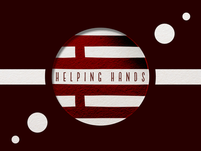 Helping Hands helping hands flag graphic design shapes logo