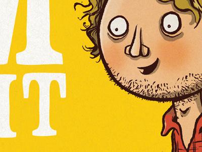 Promotional drawing illustration cartoon promotional yellow plaid