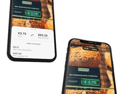 Konvertere / Currency Converter App mobile app minimal mobile ui mobile clean ui currency converter currency ios app