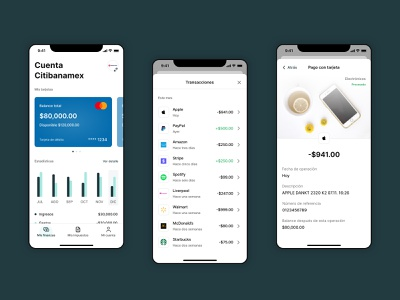 Bankbase / Fintech App cards transactions mobile design mobile app mobile ux ui ios app fintech app fintech