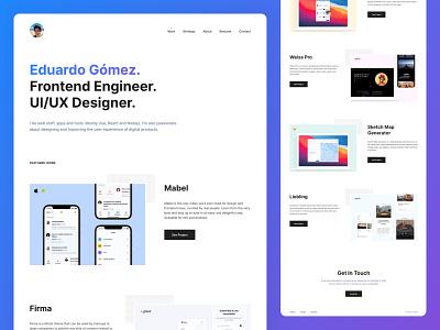 Eduardo / Personal Website designer portfolio developer portfolio ux ui landing page ux design ui design personal website portfolio