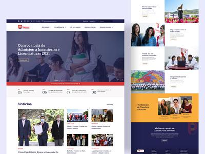 University Landing Page web design home page ux ui website education landing page landing college school university