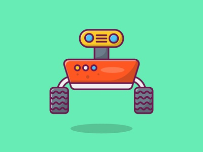 Mars Rover graphic branding vector icon illustration