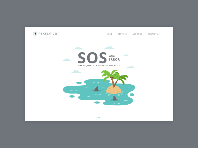 SOS! Lost Island 404 404page user experience user interface interface website brand branding design branding icon logo vector illustrator design ui design uiux uidesign ui 404 error page 404 error
