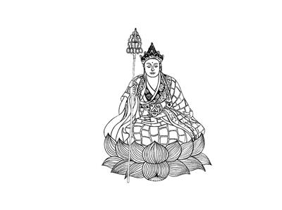 Ksitigarbha Bodhisattva commision inktober vow traditional illustration illustration design illustrations traditional art traditional blackandwhite design drawing artwork artist art illustrator illustration art buddha inking ink illustration