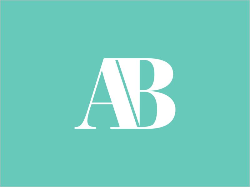 AB Monogram ui design dailyui type typography art lettering weeklywarmup dribbbleweeklywarmup monogram minimal clean branding artwork artist adobe icon logo illustration vector illustrator design