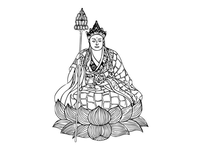 Ksitigarbha Bodhisattva ink vector illustration drawing artwork adobe art illustration vector illustrator design