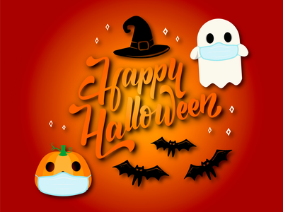 Happy Halloween! graphic design adobe illustration illustrator vector vector artist webdesign halloween design logotype typography logo vector art bats witch spooky pumpkin ppe ghost happy halloween halloween