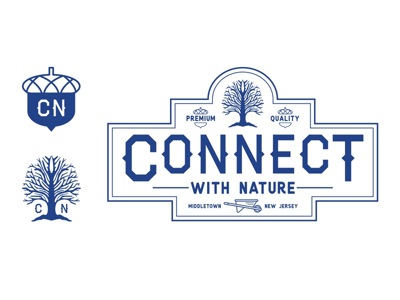 Connect With Nature mockup identity design branding concept branding design branding compost nature illustration nature design vector illustration logo design logo