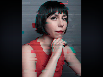 The Opposition Glitch Portrait - Laura the opposition w jordan klepper portrait photoshop graphic design glitch entertainment design comedy central comedy adobe creative suite