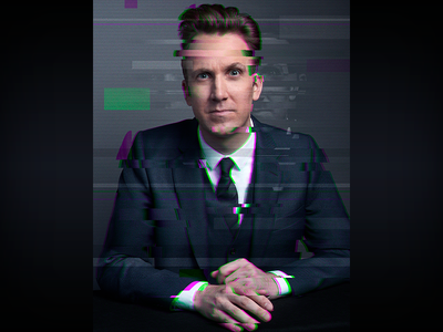 The Opposition Glitch Portrait - Jordan the opposition w jordan klepper portrait photoshop graphic design glitch entertainment design comedy central comedy adobe creative suite