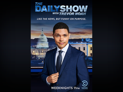 The Daily Show: April 2018 Campaign Hollywood Billboard the daily show television billboard print photoshop graphic design entertainment design comedy central comedy adobe creative suite