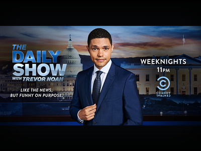 The Daily Show: April 2018 Campaign Paramount Studio Billboard the daily show television billboard print photoshop graphic design entertainment design comedy central comedy adobe creative suite