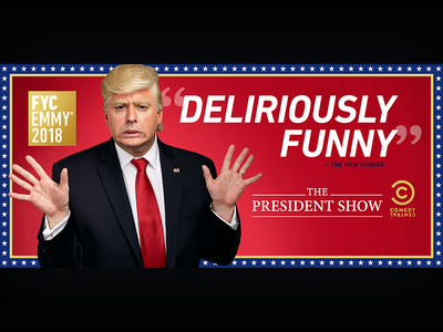 The President Show: Emmys LA Billboard the president show television print photoshop graphic design entertainment design comedy central comedy billboard adobe creative suite