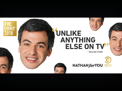 Nathan For You: Emmys LA Billboard nathan fielder nathan for you television print photoshop graphic design entertainment design comedy central comedy billboard adobe creative suite