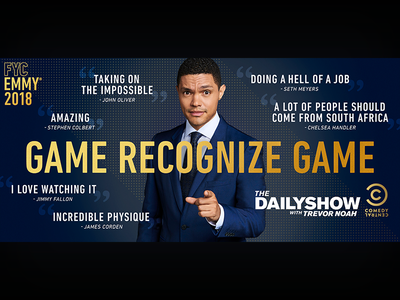 The Daily Show: Emmys LA Billboard television print photoshop the daily show graphic design entertainment design comedy central comedy billboard adobe creative suite