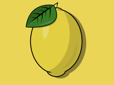 Lemon drink sour yellow cute illustration sketch drawing ux ui graphic design design graphic fruit logo illustrator vector adobe citrus lime lemon