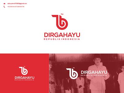 76 Dirgahayu Indonesia Logo typography vector illustration branding graphic design design icon ux ui logo