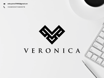 V Monogram Logo vector typography illustration graphic design design branding ux ui icon logo