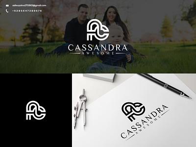 CA Monogram Logo vector typography illustration branding icon design graphic design ux ui logo