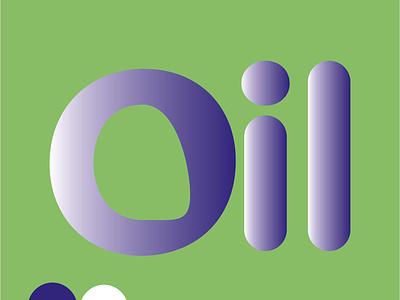 OIL typography icon vector illustration design logo branding