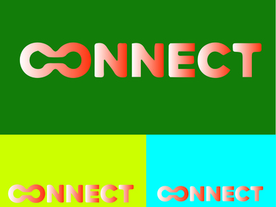 CONNECT icon typography vector illustration design logo branding