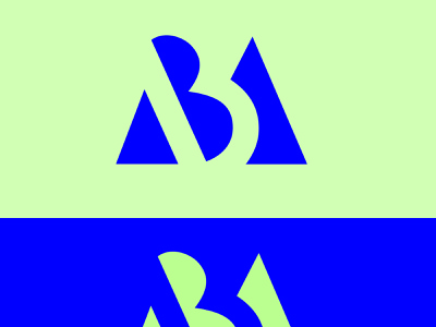 AB icon typography vector illustration design logo branding