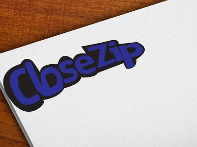 Closezip typography vector illustration design logo branding