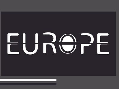 EUROPE =WORDMARK typography vector illustration logo design branding