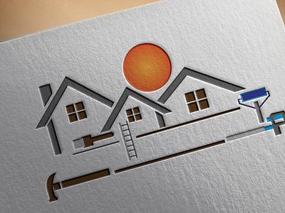 CONSTRUCTIONS LOGO typography vector logo illustration design branding