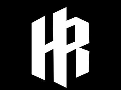 HR icon typography vector illustration design logo branding