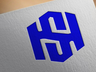MONOGRAM LOGO BY HS typography vector illustration design logo branding