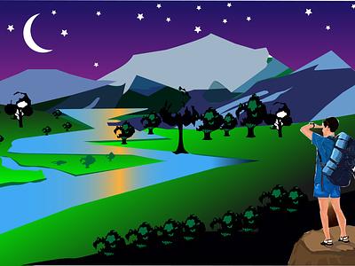 Landscap 1 animation graphic design ui 3d typography vector illustration design logo branding